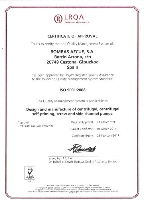 Certifica ISO IbermatAzcue